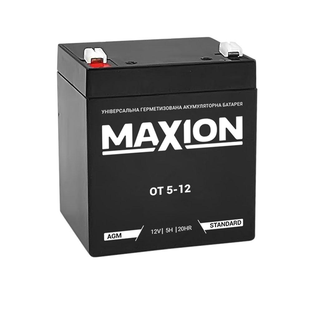 Промышленный аккумулятор MAXION AGM 12-5 (12V,5Ah)