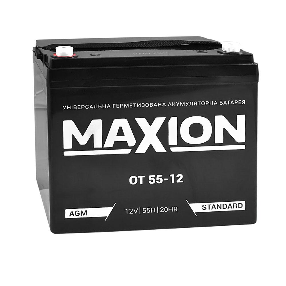 Промышленный аккумулятор MAXION AGM 12-55 (12V,55Ah)