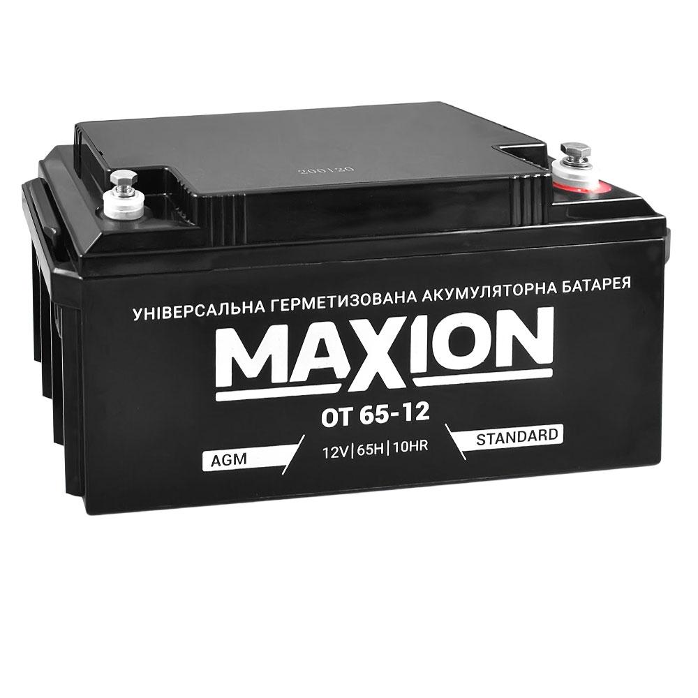 Промышленный аккумулятор MAXION AGM 12-65 (12V,65Ah)