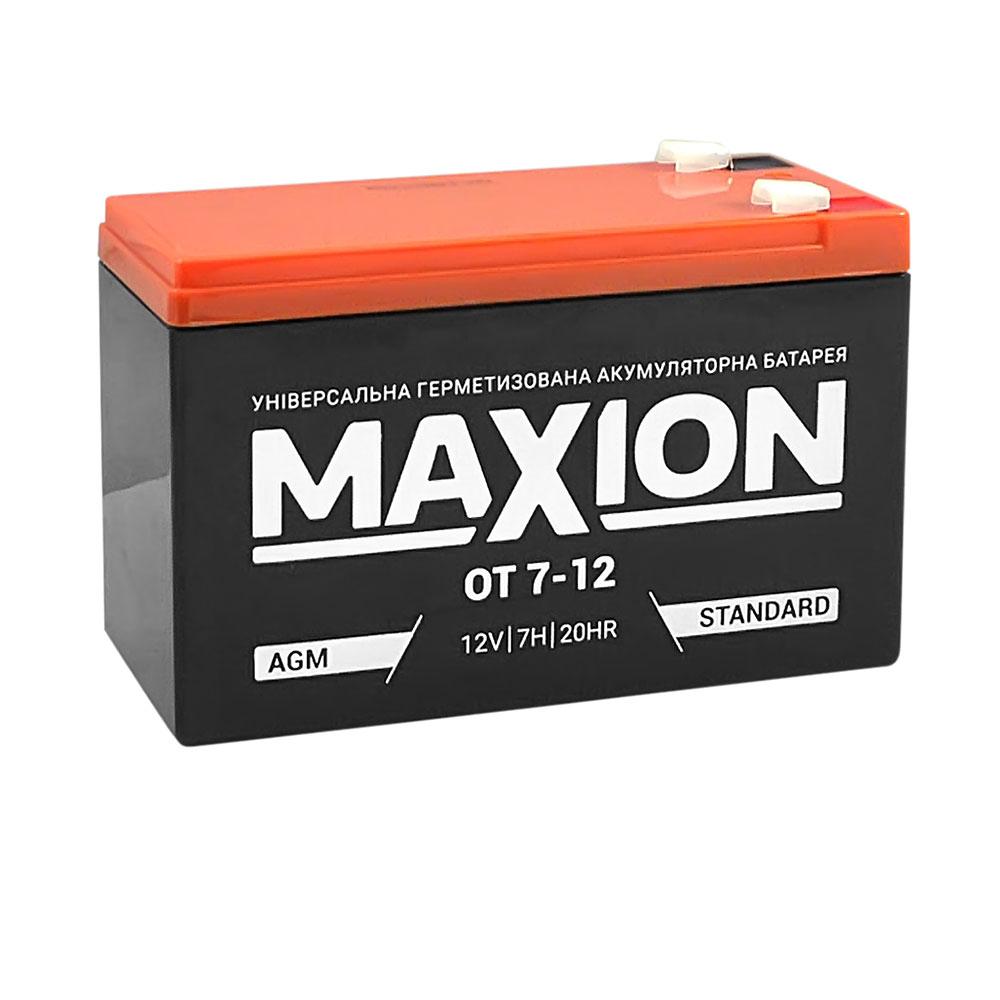 Промышленный аккумулятор MAXION AGM 12-7 (12V,7Ah)