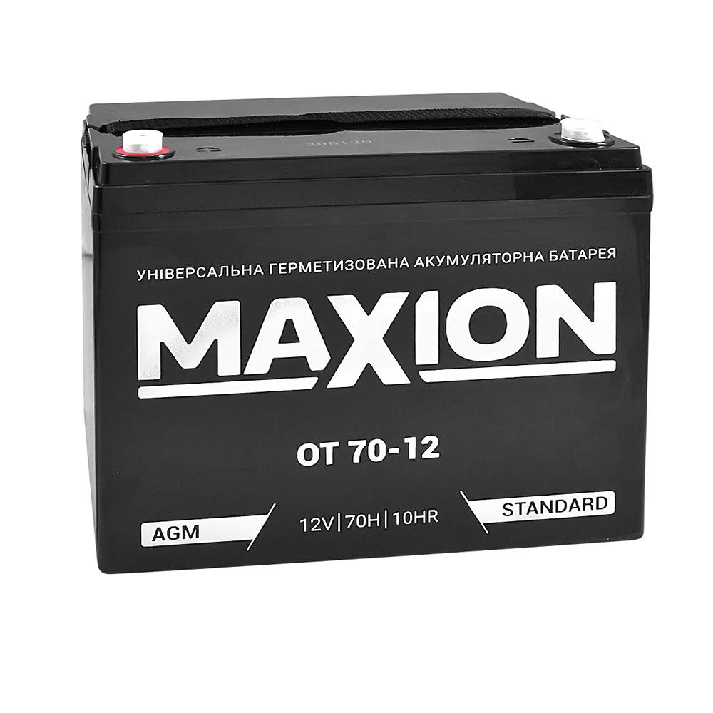 Промышленный аккумулятор MAXION AGM 12-70 (12V,70Ah)
