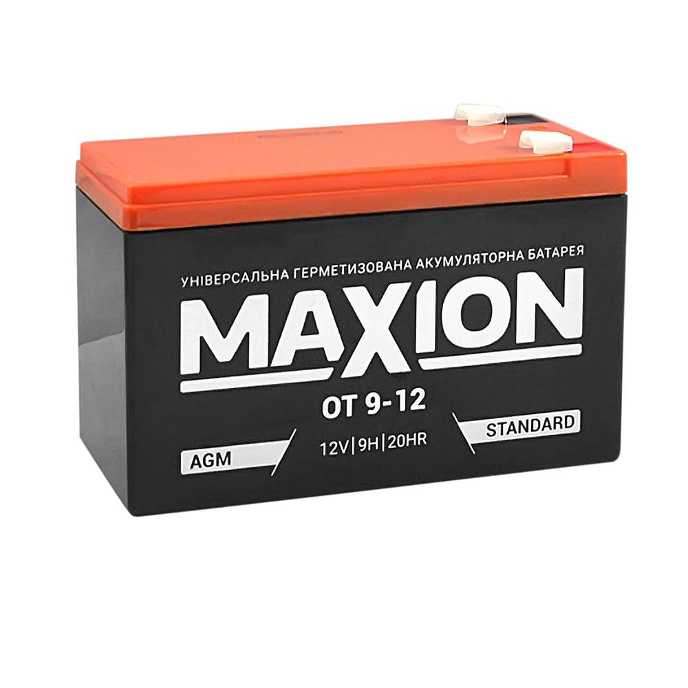 Промышленный аккумулятор MAXION AGM 12-9 (12V,9Ah)