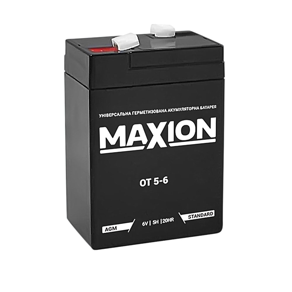 Промышленный аккумулятор MAXION AGM 6-5 (6V,5Ah)