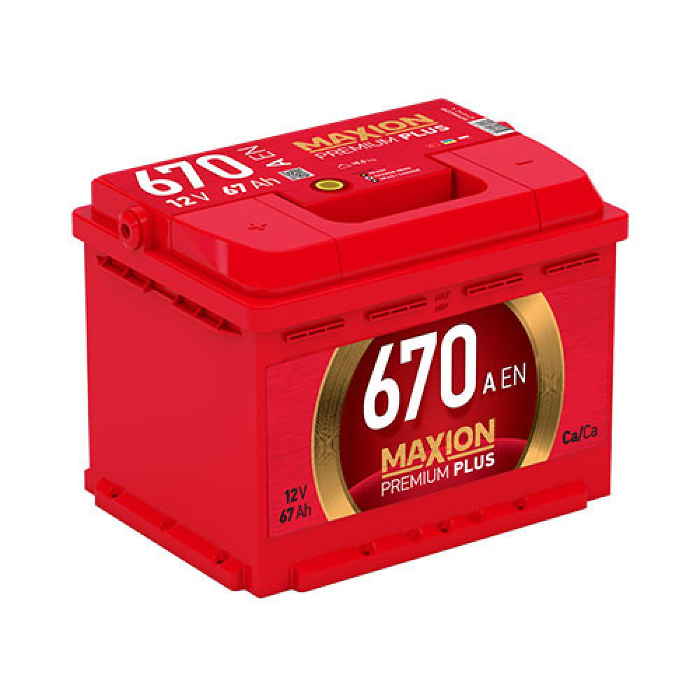 Автомобильный аккумулятор MAXION Premium Plus 67Аh 670A L+