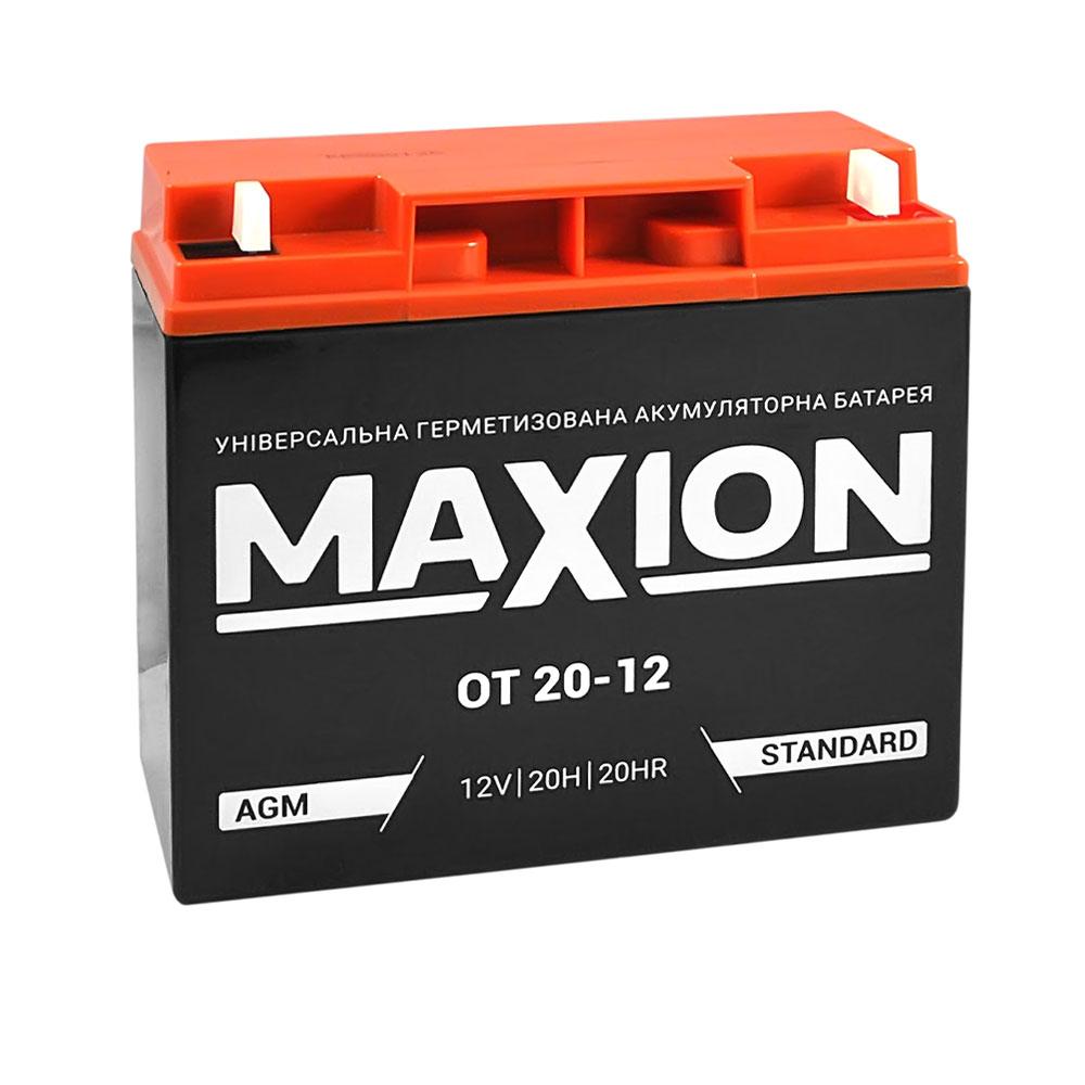Промышленный аккумулятор MAXION AGM 12-20 (12V,20Ah) )