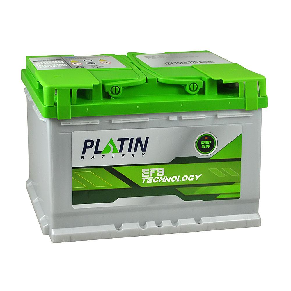 Автомобильный аккумулятор PLATIN EFB SMF 75Ah 720A R+