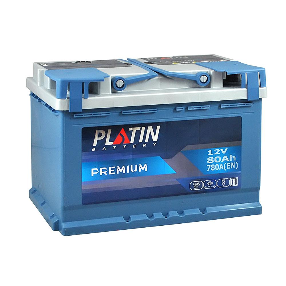Автомобильный аккумулятор PLATIN Premium MF 80Ah 780A R+