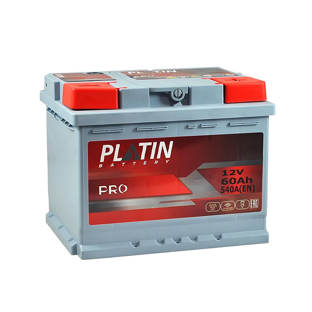 Автомобильный аккумулятор PLATIN Pro MF 60Ah 540A R+