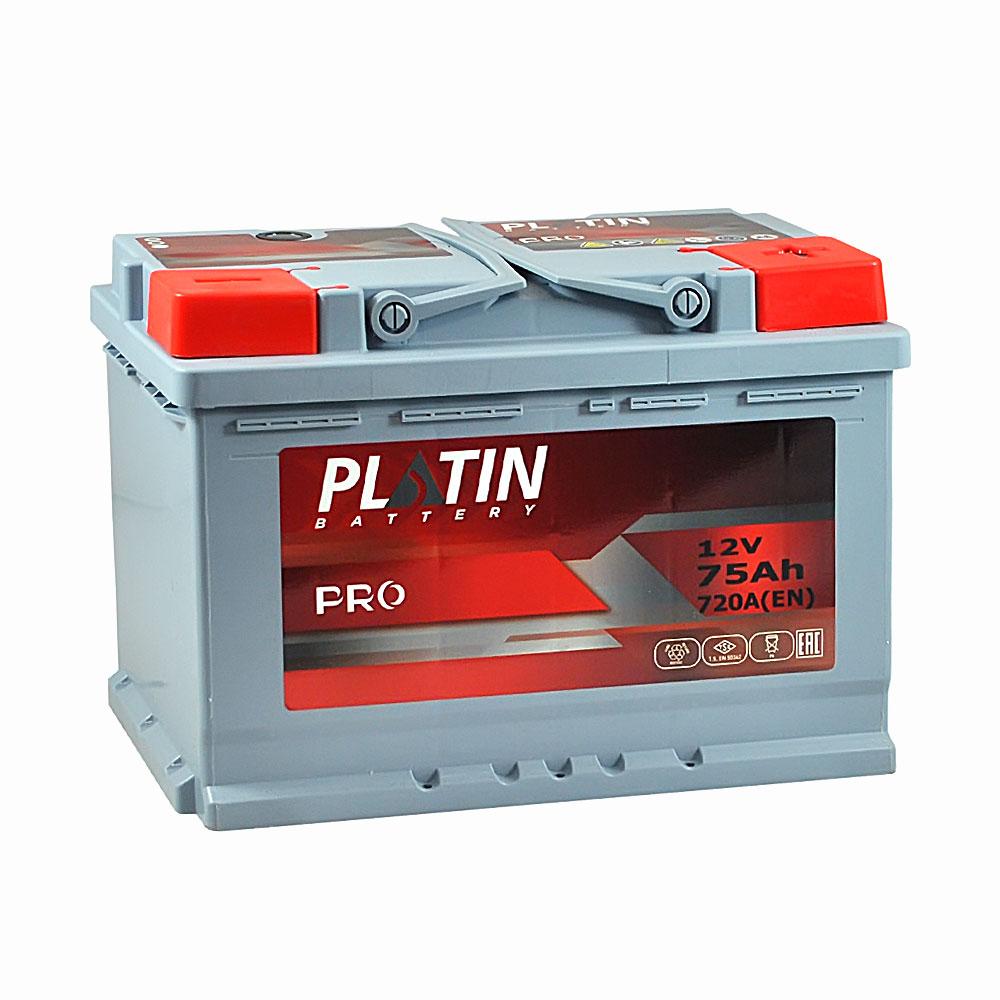Автомобильный аккумулятор PLATIN Pro MF 75Ah 720A R+