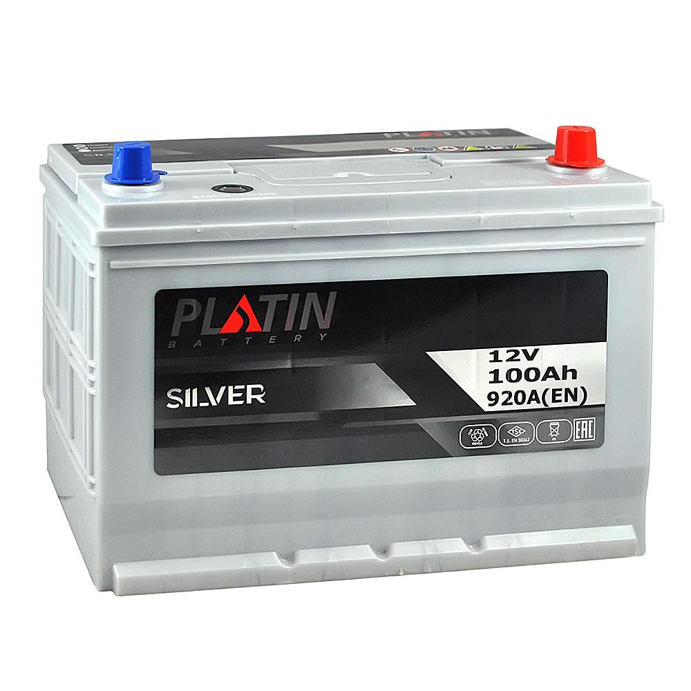 Автомобильный аккумулятор PLATIN Silver Asia SMF 100Ah 920A R+