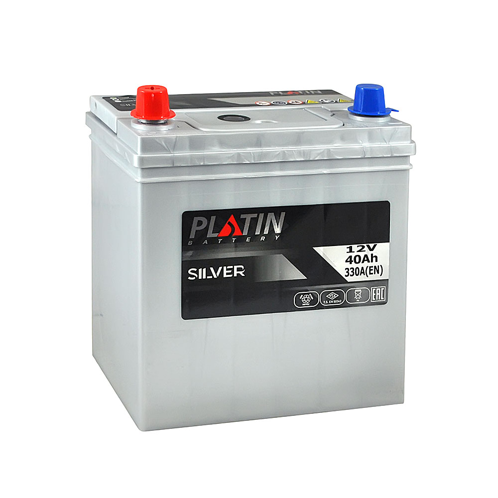 Автомобильный аккумулятор PLATIN Silver Asia SMF 40Ah 330A L+