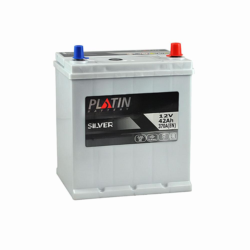 Автомобильный аккумулятор PLATIN Silver Asia SMF 42Ah 370A R+