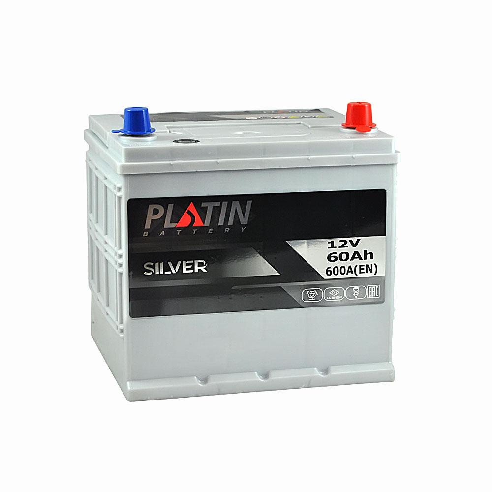 Автомобильный аккумулятор PLATIN Silver Asia SMF 60Ah 600A R+