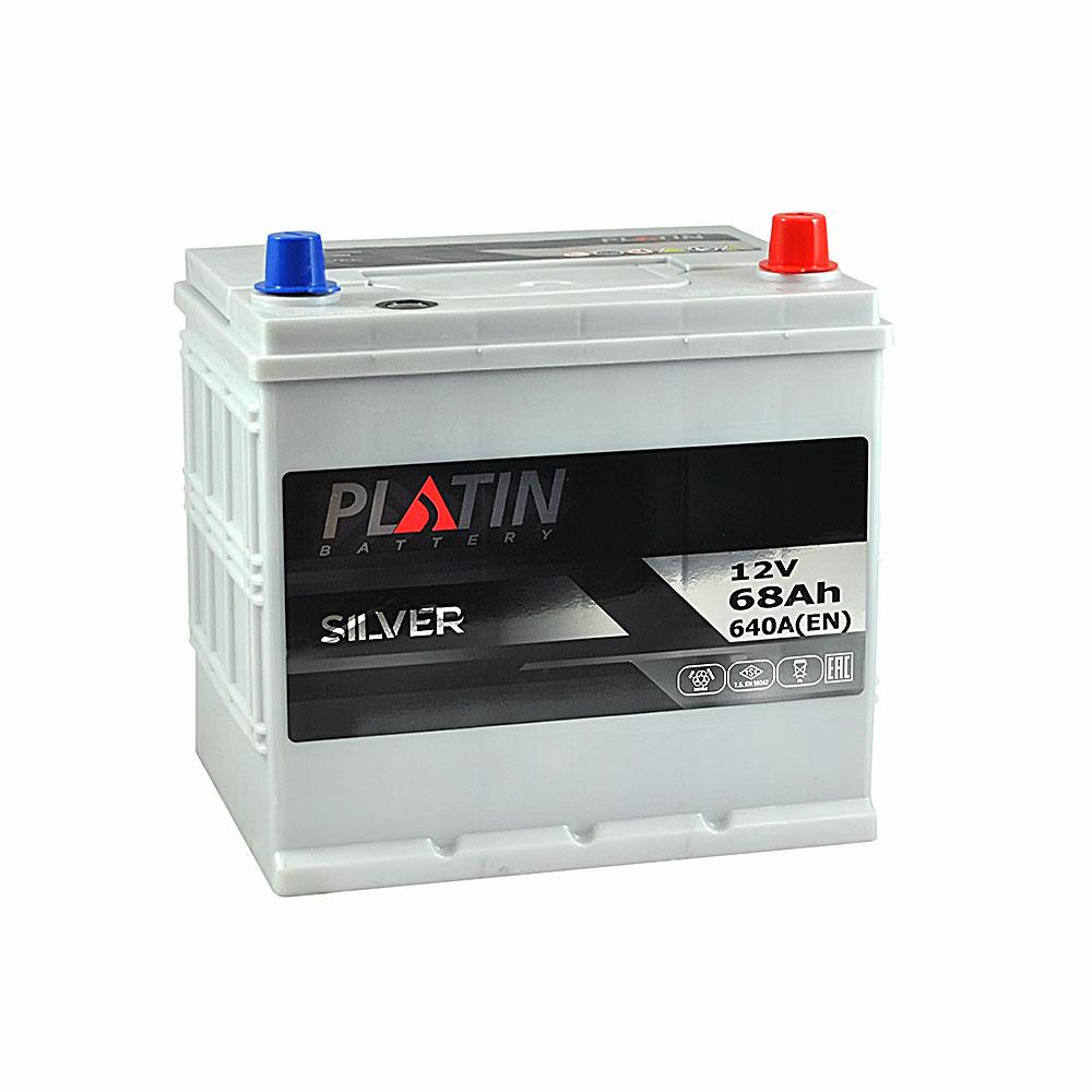 Автомобильный аккумулятор PLATIN Silver Asia SMF 68Ah 640A R+