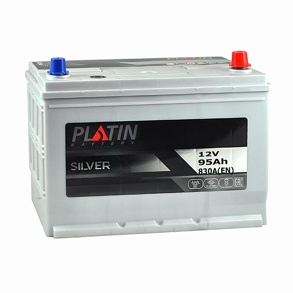 Автомобильный аккумулятор PLATIN Silver Asia SMF 95Ah 830A R+