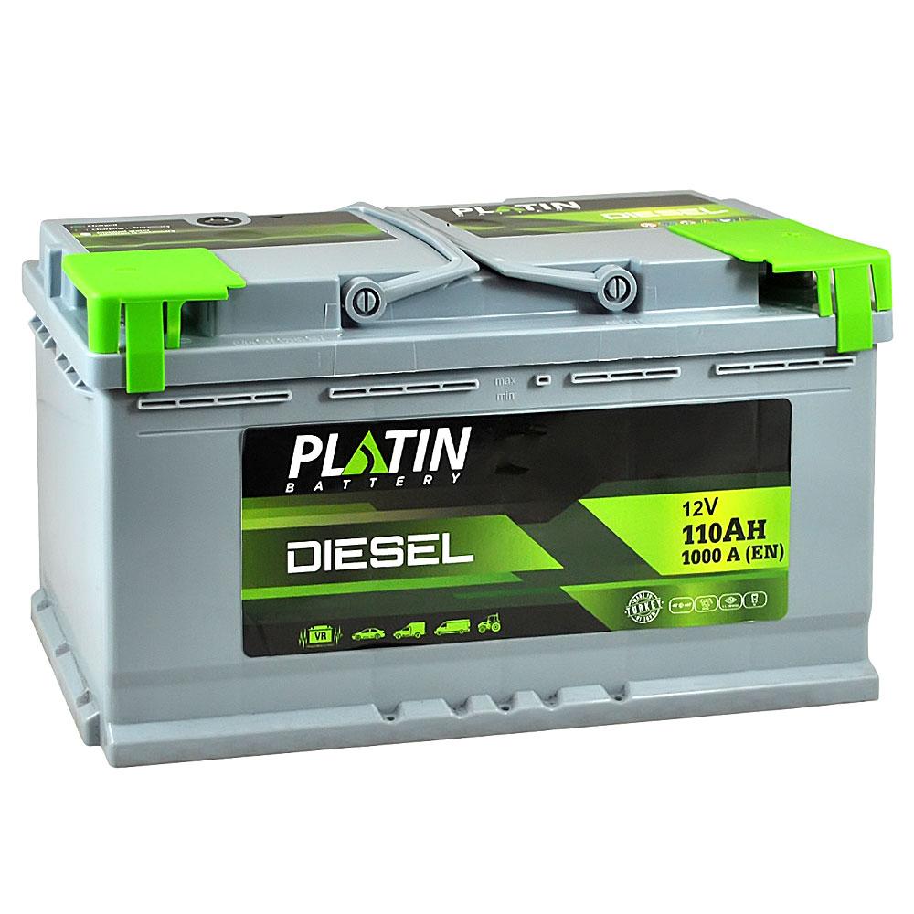 Автомобильный аккумулятор PLATIN Silver Dizel MF 110Ah 1000A R+