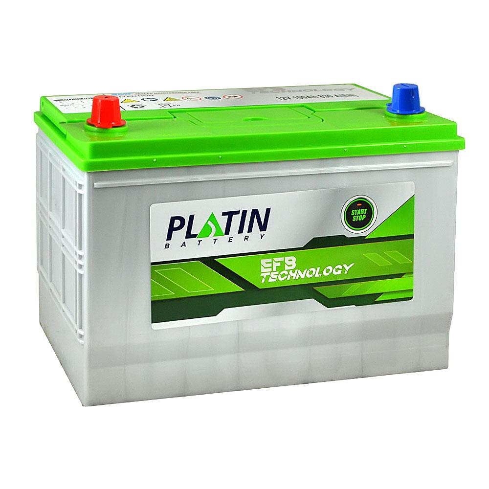 Автомобильный аккумулятор PLATIN EFB Asia SMF 100Ah 830A L+