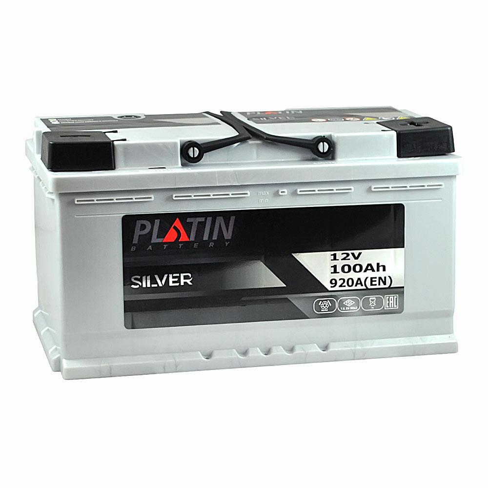 Автомобильный аккумулятор PLATIN Silver MF 100Ah 920A R+