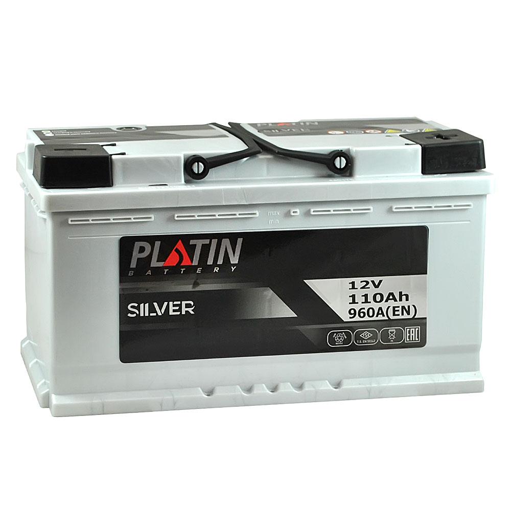 Автомобильный аккумулятор PLATIN Silver MF 110Ah 960A R+