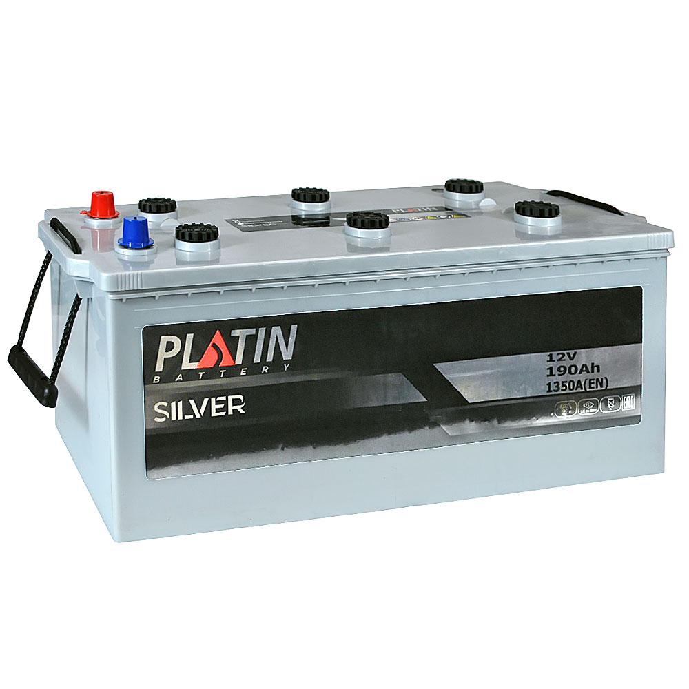 Автомобильный аккумулятор PLATIN Silver MF 190Ah 1350A R+