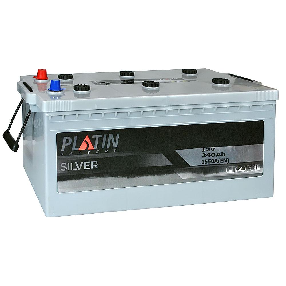 Автомобильный аккумулятор PLATIN Silver MF 240Ah 1550A R+