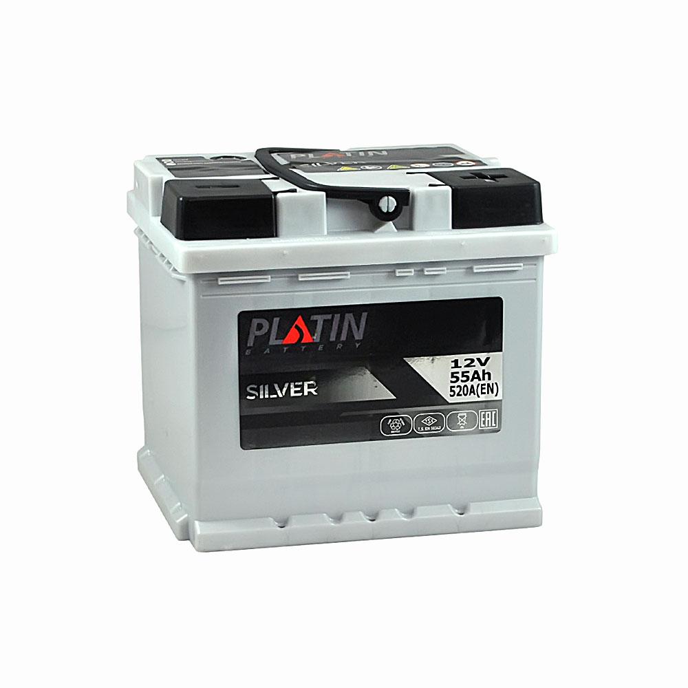 Автомобильный аккумулятор PLATIN Silver MF 55Ah 520A L+