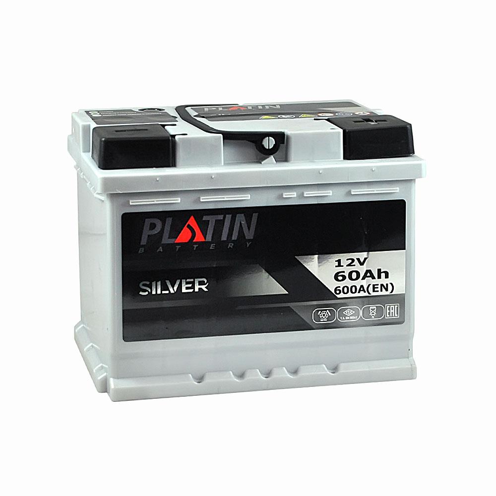 Автомобильный аккумулятор PLATIN Silver MF 60Ah 600A R+