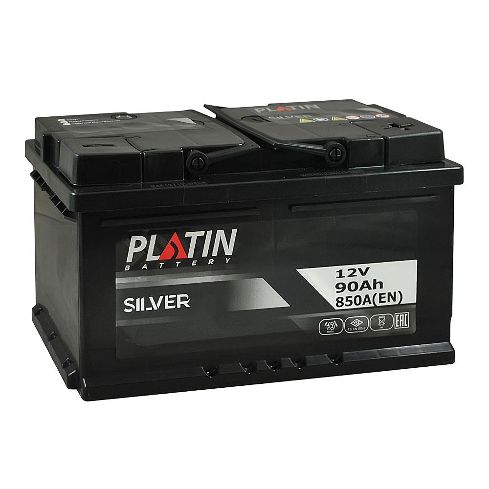 Автомобильный аккумулятор PLATIN Silver MF 90Ah 850A R+