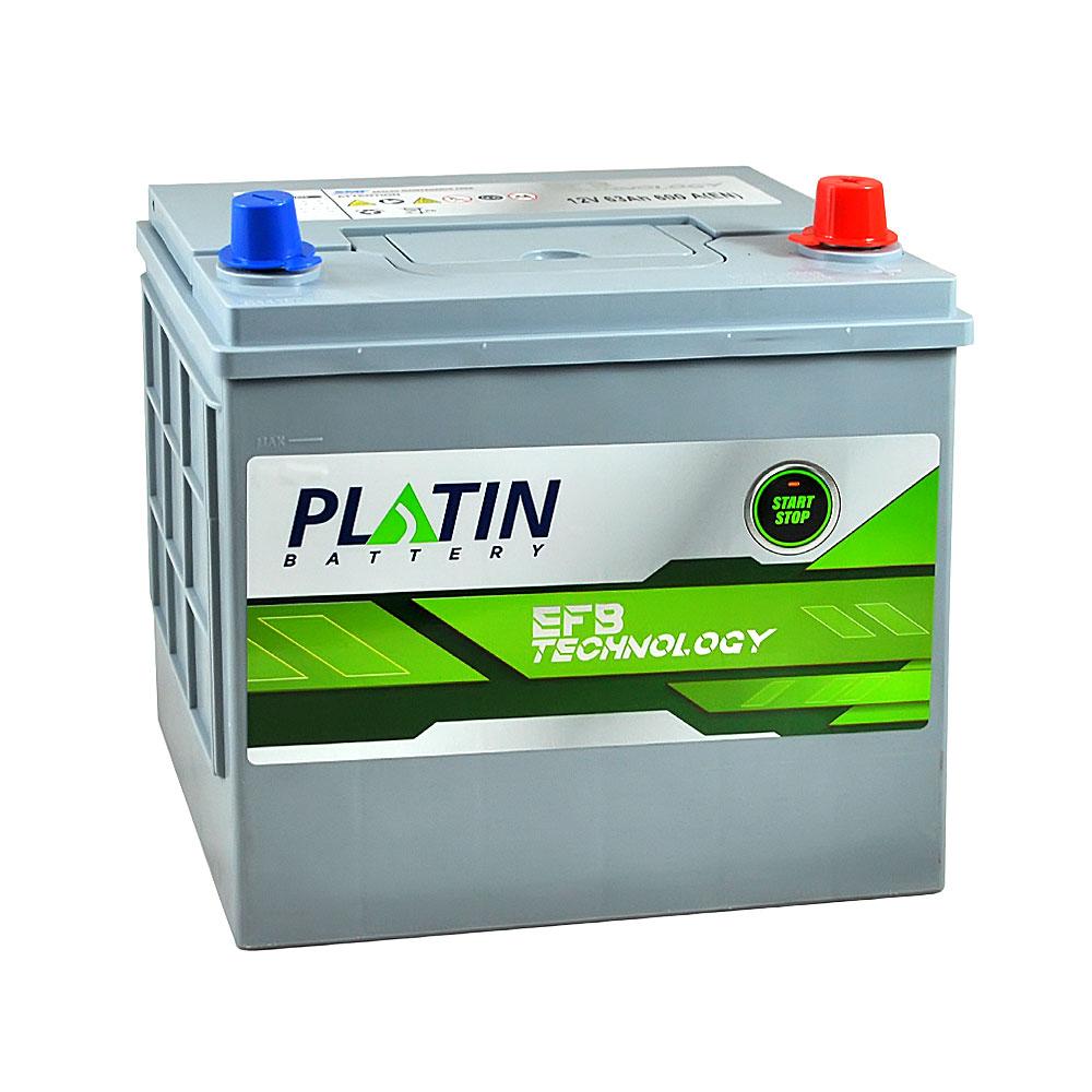 Автомобильный аккумулятор PLATIN EFB Asia SMF 63Ah 600A R+