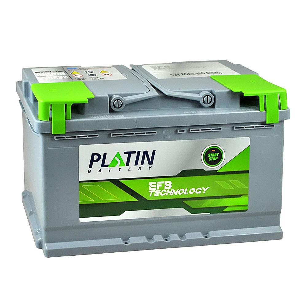 Автомобильный аккумулятор PLATIN EFB MF 85Ah 800A R+