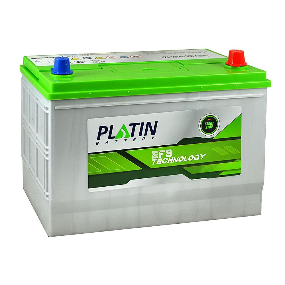 Автомобильный аккумулятор PLATIN EFB Asia SMF 100Ah 830A R+