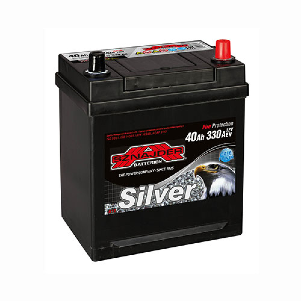Автомобильный аккумулятор SZNAJDER Silver Calcium Asia (540 A0) 40Аh 330А R+