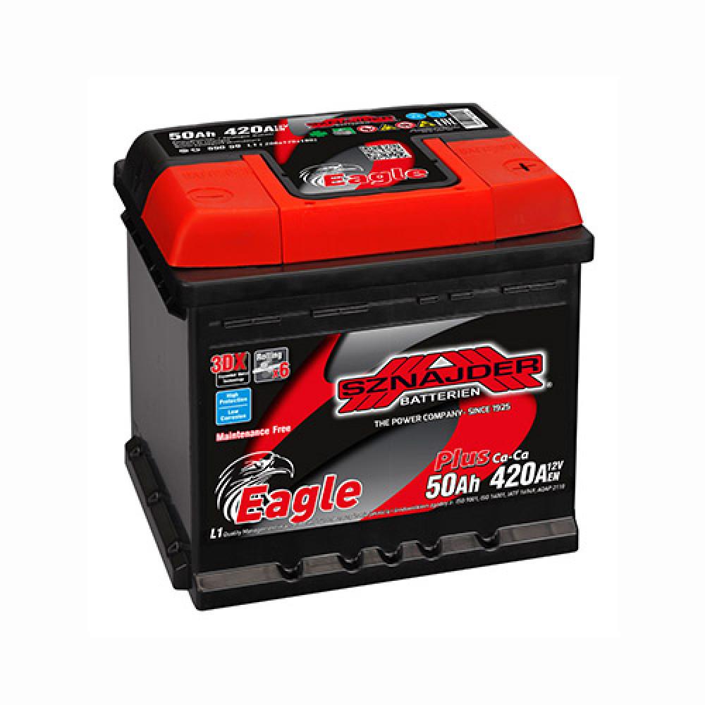 Автомобильный аккумулятор SZNAJDER Plus (550 59) 50Ah 420A R+