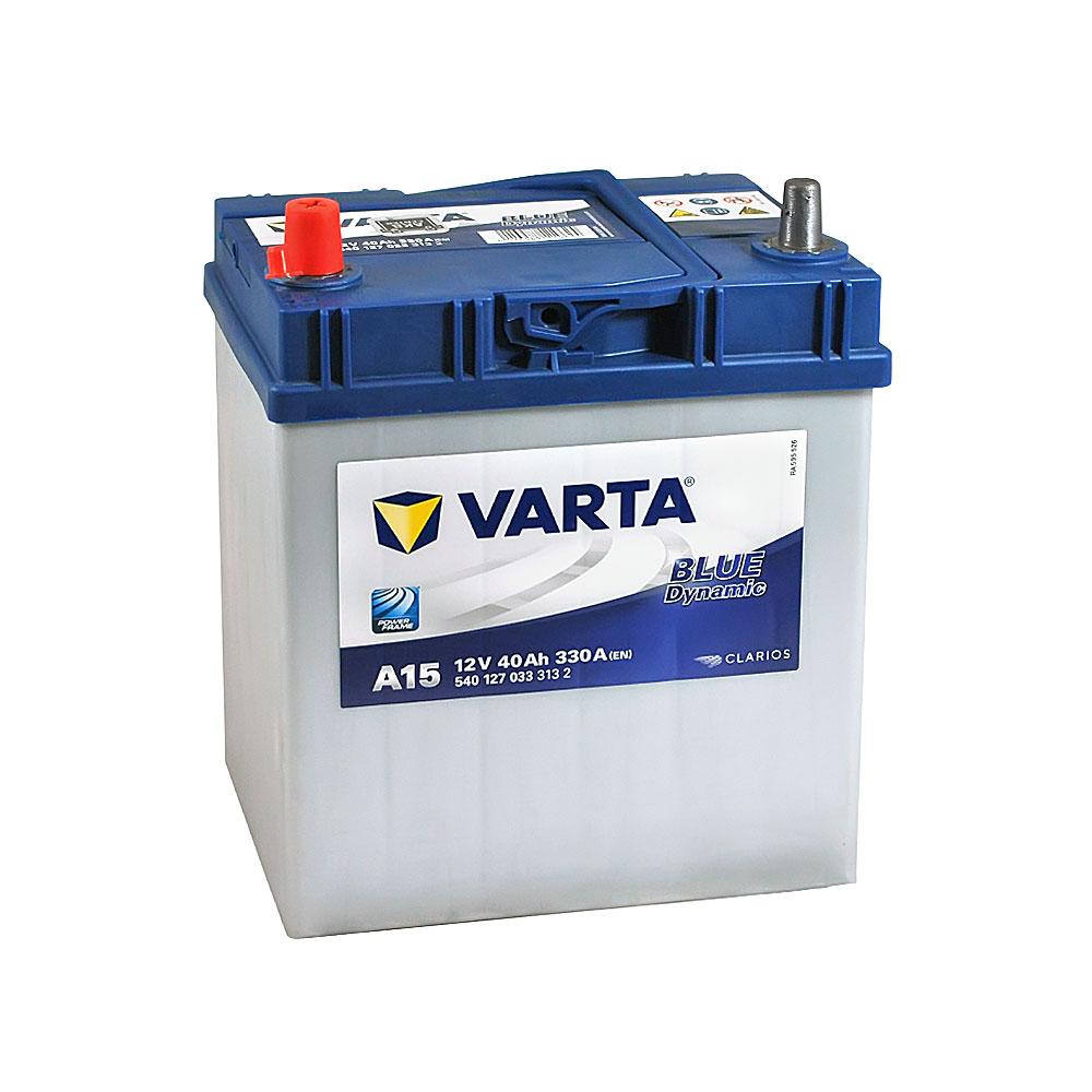 Автомобильный аккумулятор VARTA Blue Dynamic Asia (A15) 40Ah 330A L+