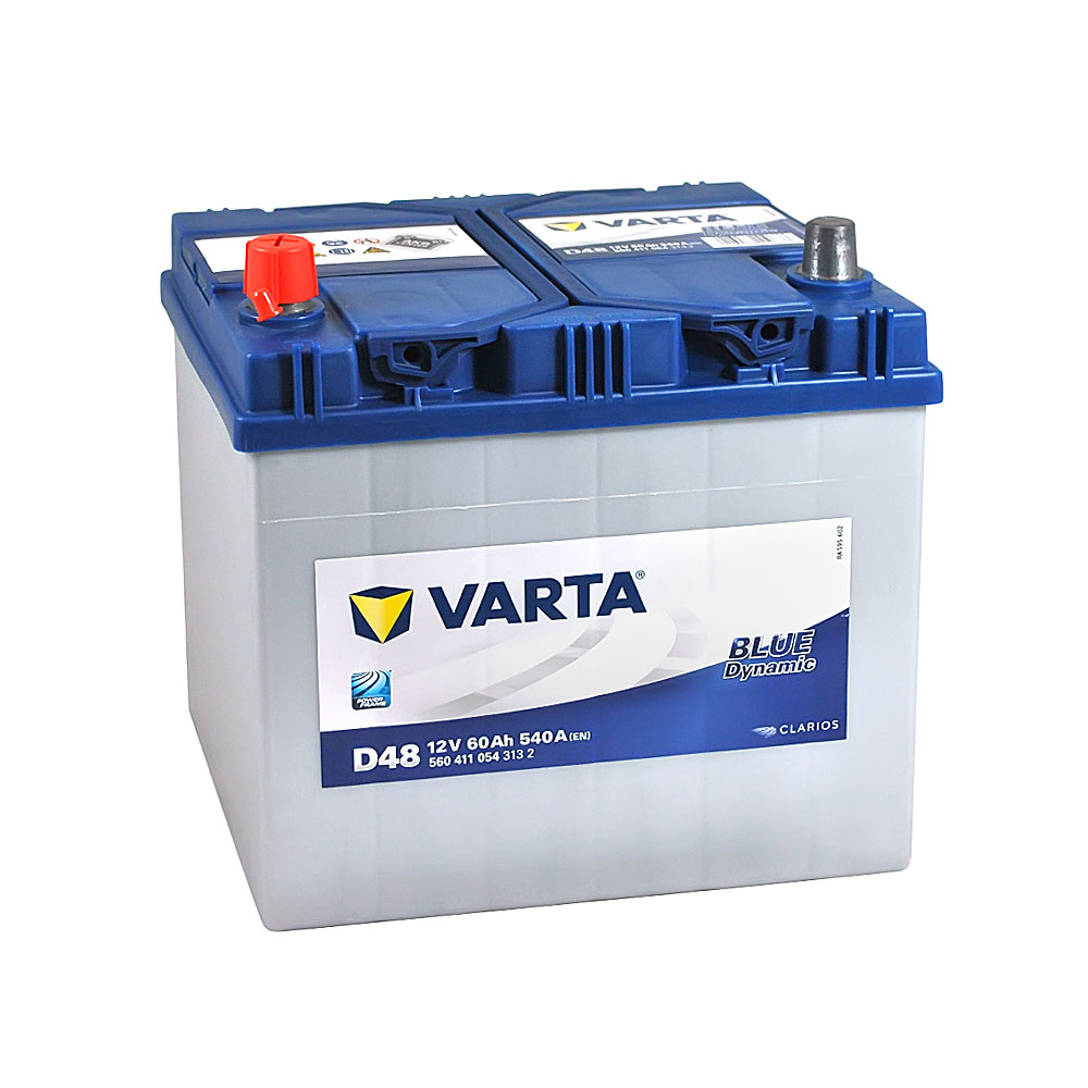 Автомобильный аккумулятор VARTA Blue Dynamic Asia (D48) 60Ah 540A L+