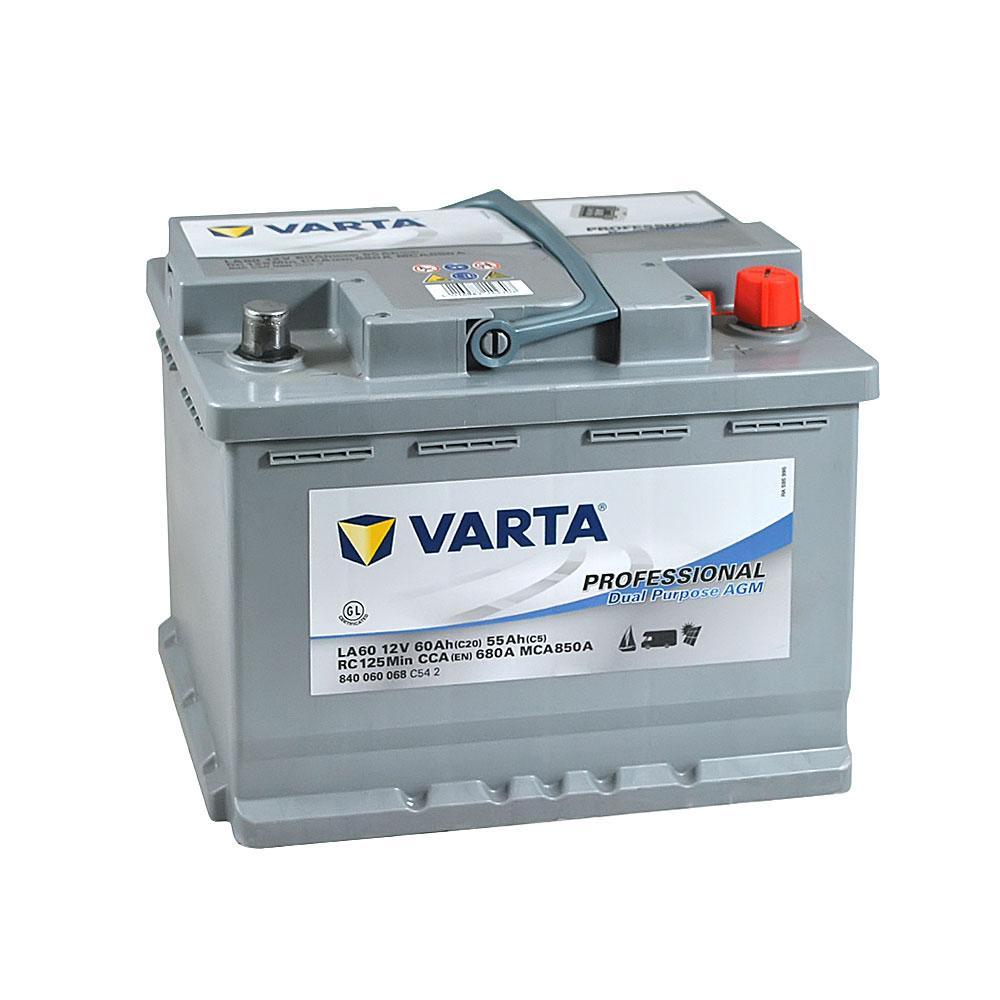 Автомобильный аккумулятор VARTA Prof DP AGM (LA60) 60Ah 680A R+
