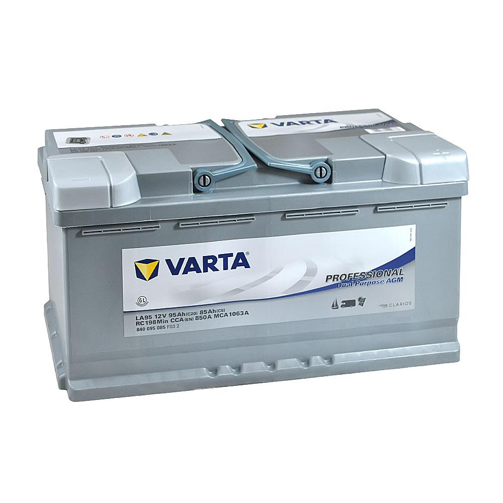 Автомобильный аккумулятор VARTA Prof DP AGM (LA95)  95Aз 850A R+