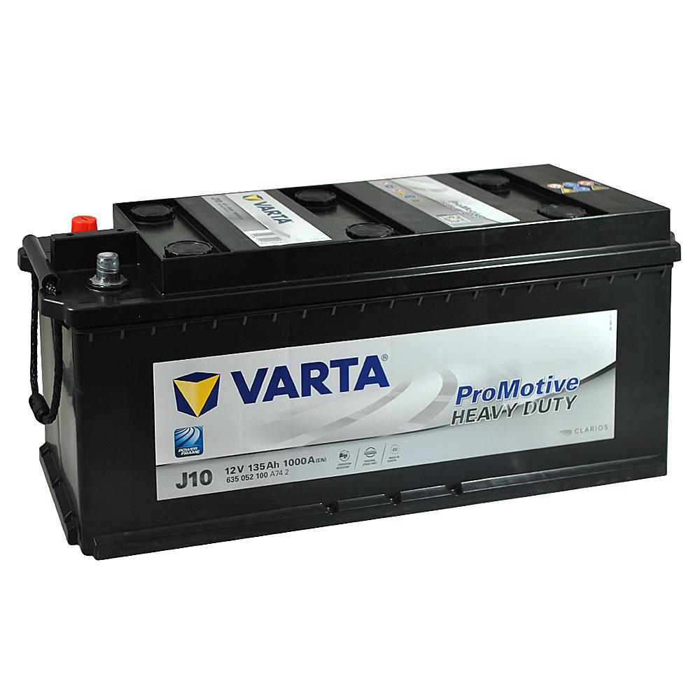 Автомобильный аккумулятор VARTA Promotive Black (J10) 135Ah 1000A