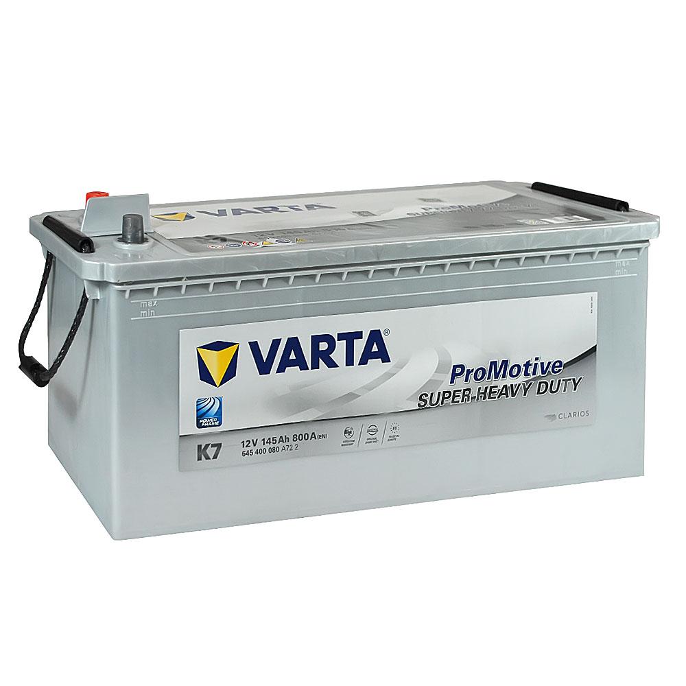 Автомобильный аккумулятор VARTA Promotive Silver (K7) 145Ah 800A