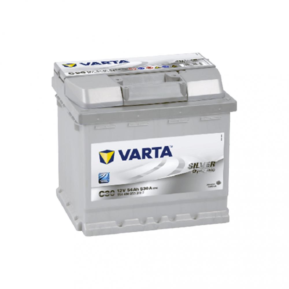 Автомобильный аккумулятор VARTA Silver Dynamic (C30) 54Ah 530А R+