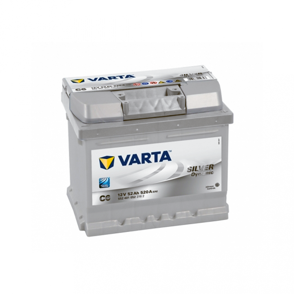 Автомобильный аккумулятор VARTA Silver Dynamic (C6) 52Ah 520А R+