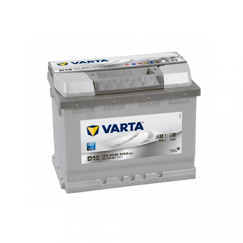 Автомобильный аккумулятор VARTA Silver Dynamic (D15) 63Ah 610A R+