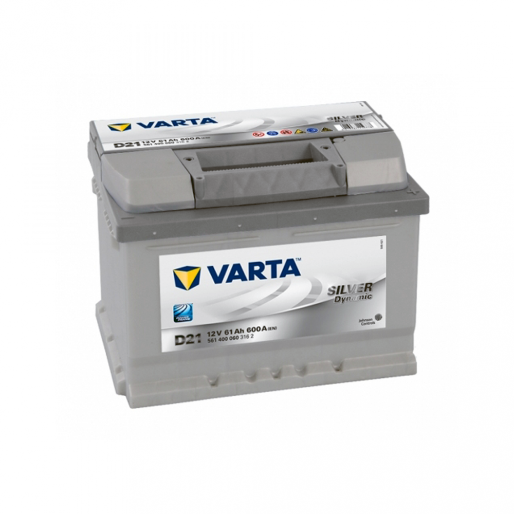 Автомобильный аккумулятор VARTA Silver Dynamic (D21) 61Ah 600A R+