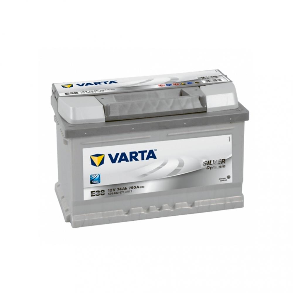 Автомобильный аккумулятор VARTA Silver Dynamic (E38) 74Ah 750А R+