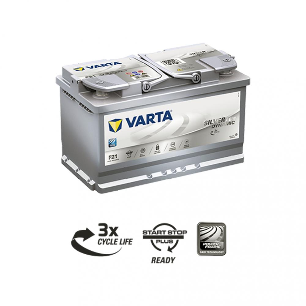 Автомобильный аккумулятор VARTA Silver Dynamic AGM (F21) 80Ah 800А R+