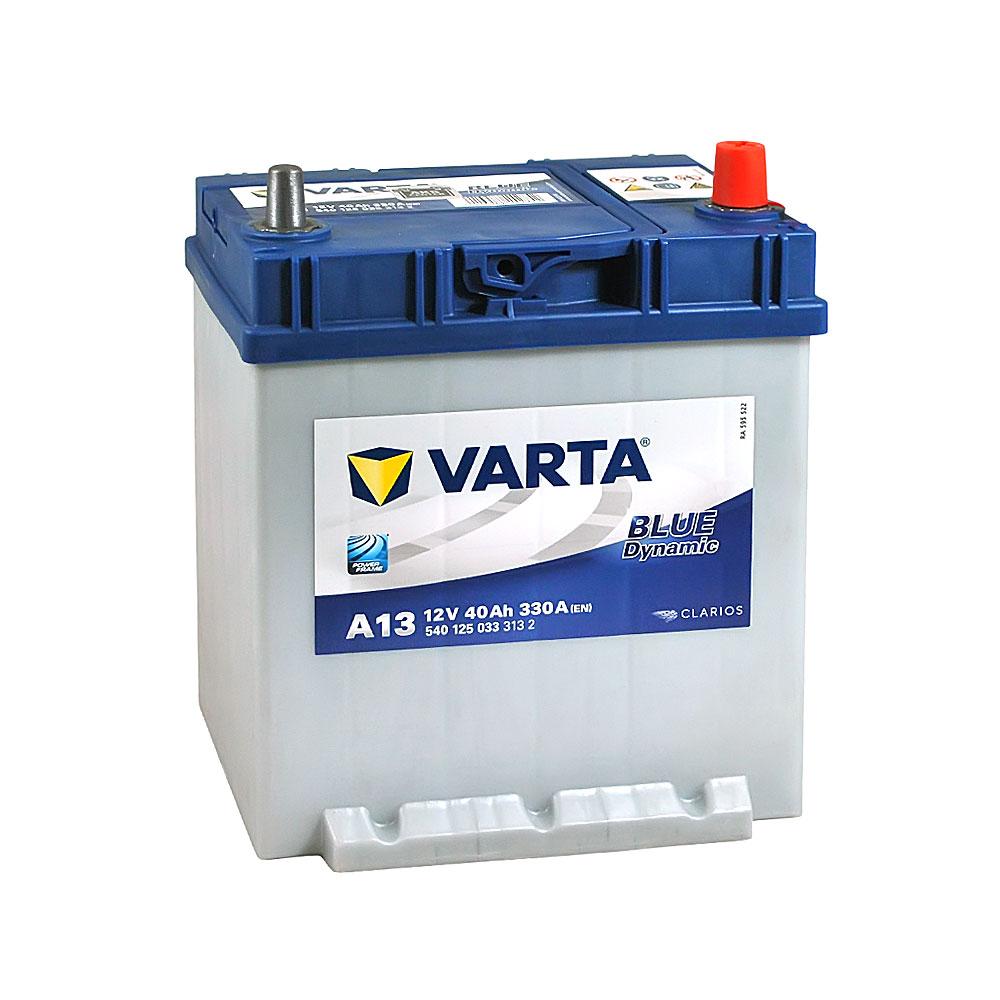 Автомобильный аккумулятор VARTA Blue Dynamic Asia (A13) 40Ah 330A R+