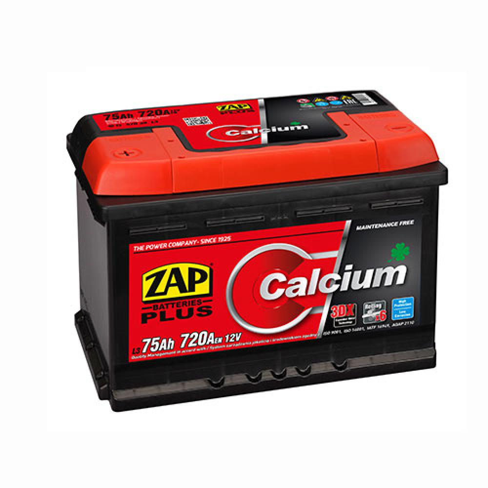 Автомобильный аккумулятор ZAP Plus (575 20) 75Ah 720A R+