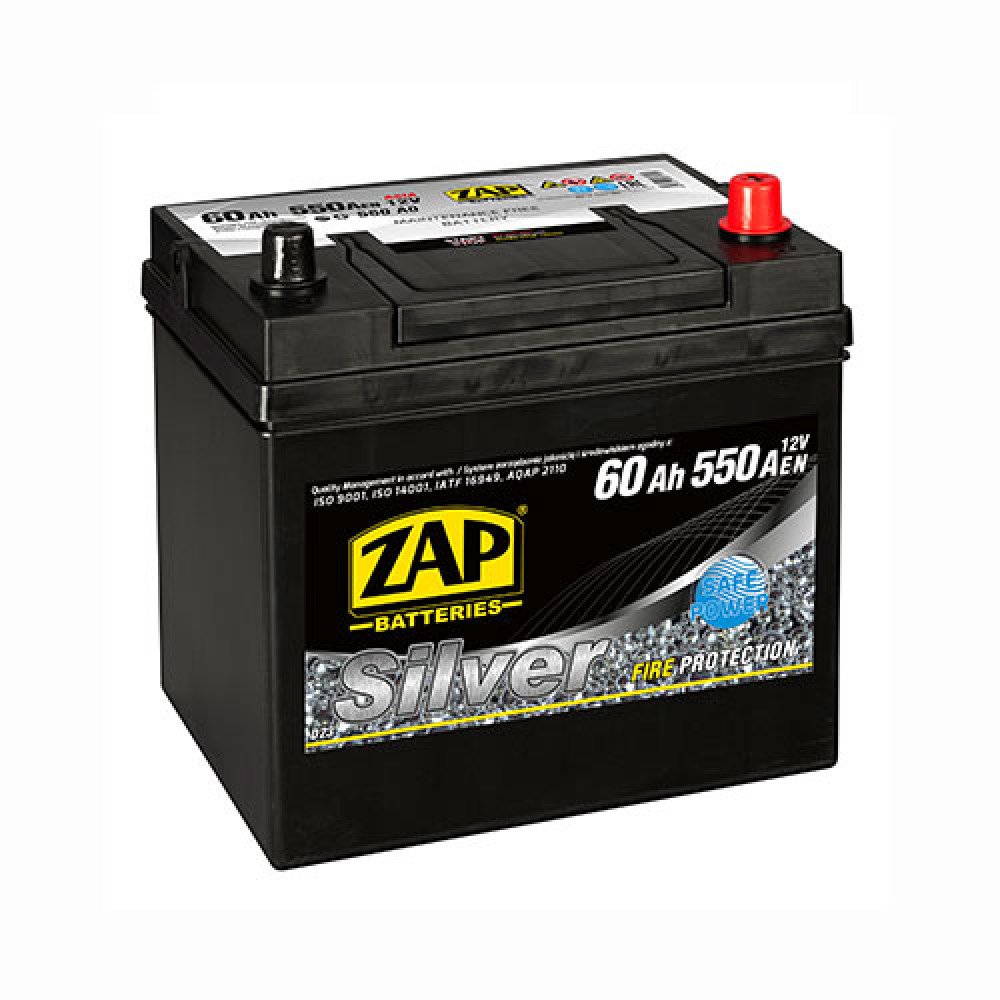 Автомобильный аккумулятор ZAP Silver Calcium Asia (560 A0) 60Аh 550А R+