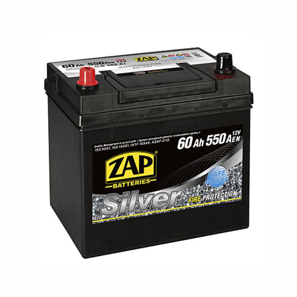 Автомобильный аккумулятор ZAP Silver Calcium Asia (560 A1) 60Аh 550А L+