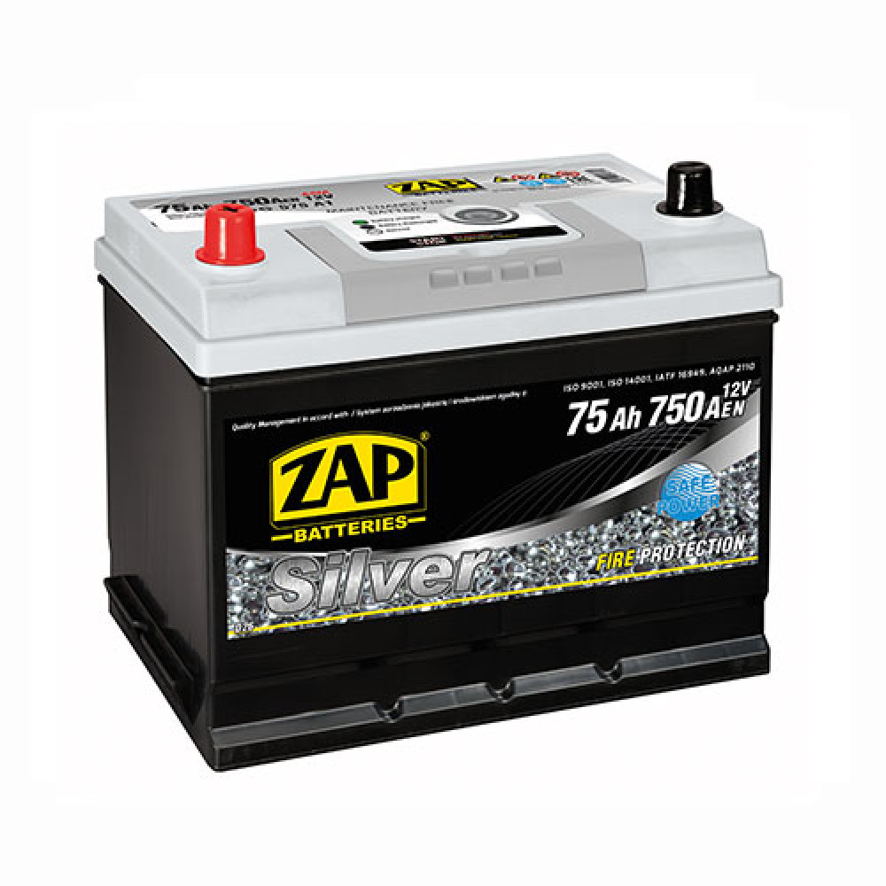 Автомобильный аккумулятор ZAP Silver Calcium Asia (575 A1) 75Аh 750А L+